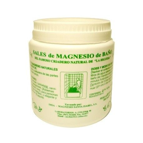 Sal de Magnesio para Baño 500 gr.
