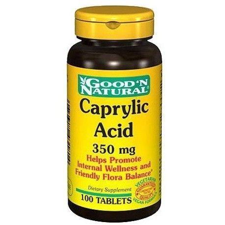 Ácido Caprílico 350 mg. 100 Tabletas