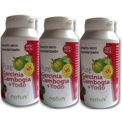 Pure Garcinia Cambogia, Yodo, L-Tirosina(Pack 3 Unidades)