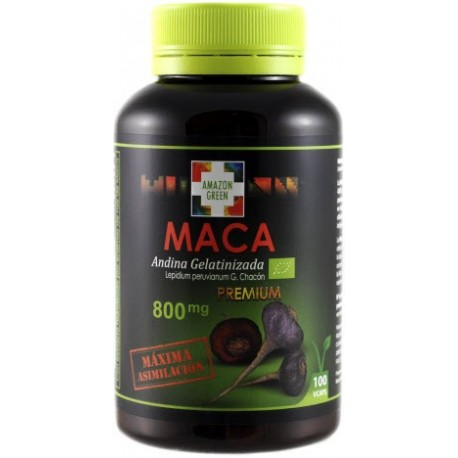 Maca roja y negra orgánica Premium 800 mg.