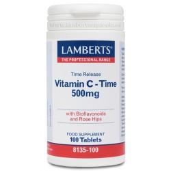Vitamina C 500 mg. Liberación Sostenida Con Bioflavonoides y Escaramujo