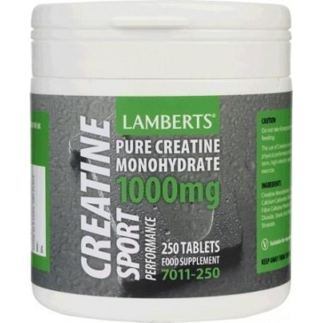 creatine 1000mg 250 tabletas lamberts