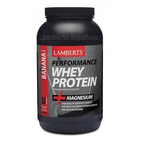 Proteína Whey aislada 1Kg sabor plátano