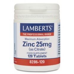 Citrato de zinc 25 mg (120 comprimidos)