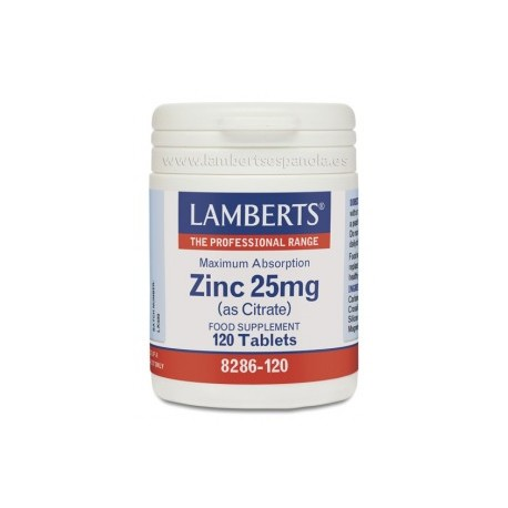 Citrato de zinc 25 mg de Lamberts
