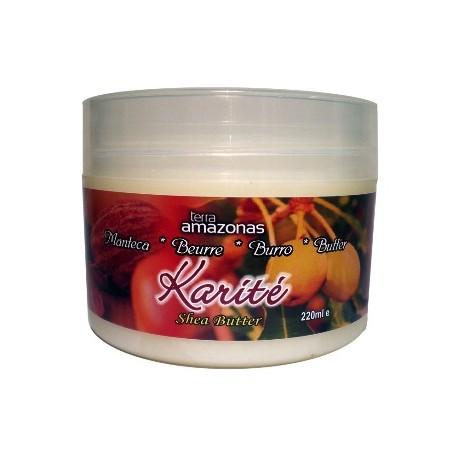 Manteca de karité pura 220 ml.