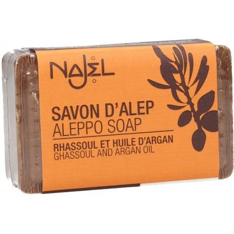 Jabón de Alepo con Rhassoul y Aceite de Argán