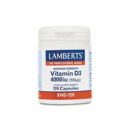 Vitamina D3 4000 UI (100 µg) de Lamberts®