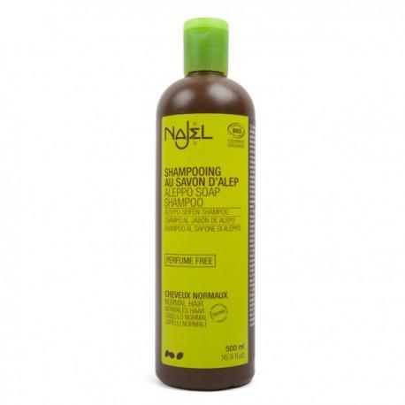 Champú de jabón de Alepo para cabello normal 500 ml.