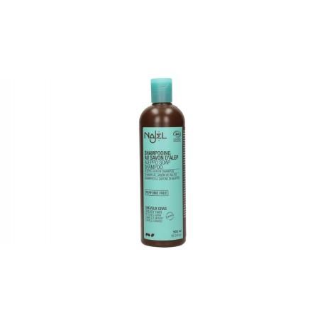 Champú de jabón de Alepo para cabello graso 500 ml.