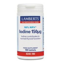 Yodo 150 µg en forma de yoduro de Potasio. 100% del VRN