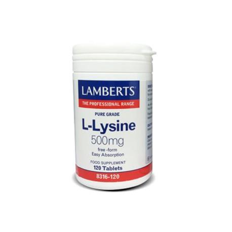 L-Lysine 500mg. 120 tabletas
