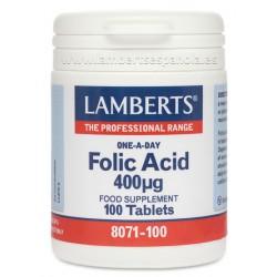 Ácido Fólico 400 mcg. 100 tabletas