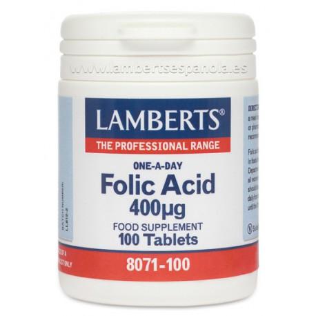Ácido Fólico 400 mcg. 250 tabletas