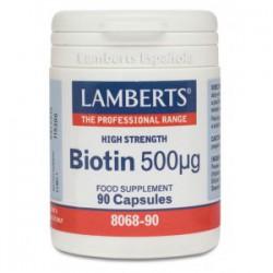 Biotina 500µg 90 cápsulas.