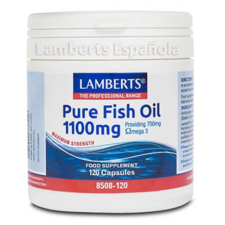 Aceite de Pescado Puro 1100mg 120 cápsulas.