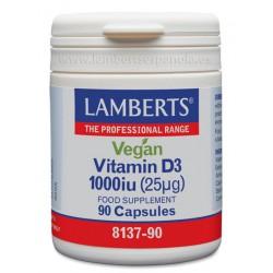 Vitamina D3 Vegana 1000 UI (25 µg) como colecalciferol