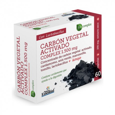 Carbón Vegetal Activo Complex 1500mg.