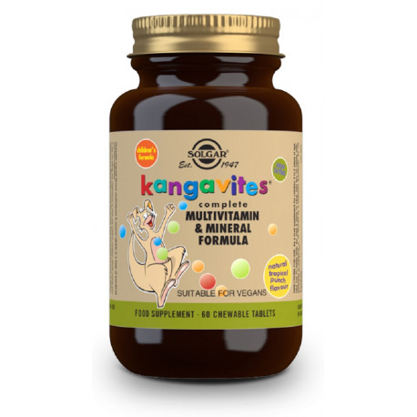 "Kangavites Multi ""Frutas Tropicales"" - 60 Com masticables"