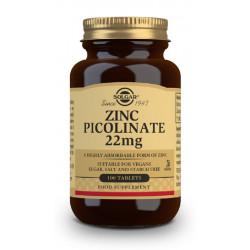 Zinc Picolinato comprimidos 22Mg Solgar 100 com.