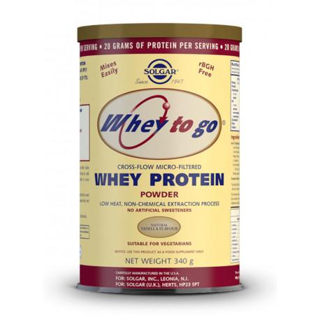 Whey To Go Proteína de suero en polvo (Sabor vainilla) - 340 gr