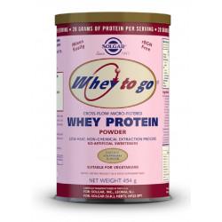 Whey Protein To Go sabor Fresa Solgar 450 mg