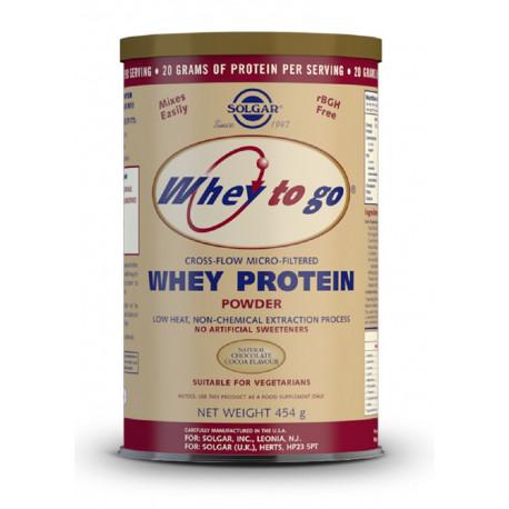 Whey Protein To Go Choco 453Gr Solgar