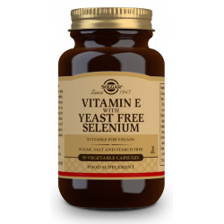 Vitamina E con Selenio (sin levadura) - 50 Cáp. vegetales
