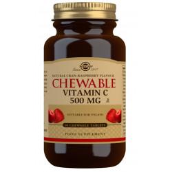 Vitamina C masticable 500 mg Sabor frambuesa - 90 Comp