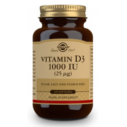 Vitamina D3 1000Ui 25Mcg Solgar 100 perlas