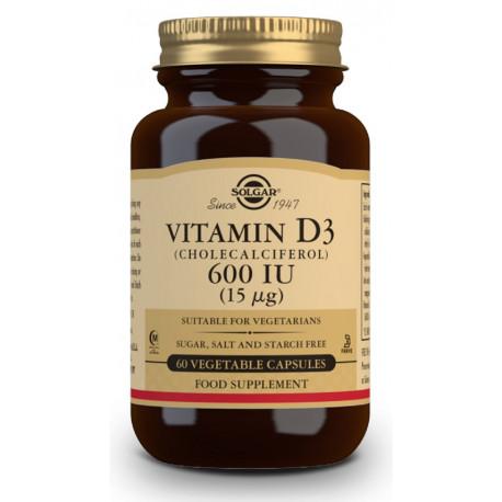 Vitamina D3 COlecalciferol 600 IU 15 Ug 60 caps