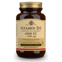 Vitamina D3 4 000Ui 120Cap veganas Solgar