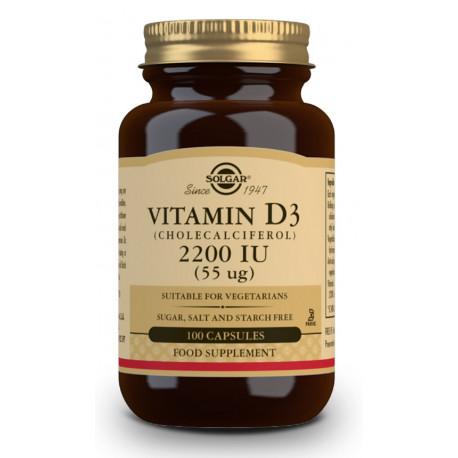 Vitamina D3 2200Ui 100Cap Vegetal Solgar