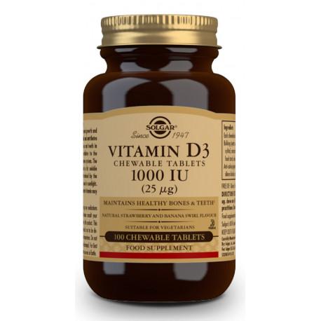 Vitamina D3 1000 iU masticables 100 tab
