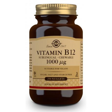 Vitamina B12 1000 μg (Cianocobalamina) - 250 Comprimidos sublinguales - masticables