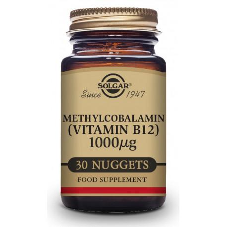 Vitamina B12 1000 μg (Metilcobalamina) - 30 Comprimidos sublinguales - masticables