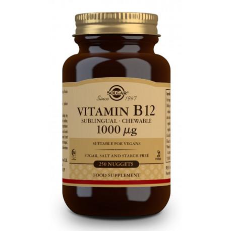 Vitamina B12 masticable 1000 ug 250 comprimidos Solgar