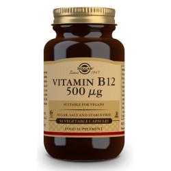 Vitamina B12 500 µg Cianocobalamina 50Cap Solgar