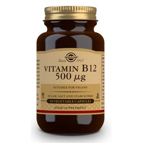 Vitaminat B12 500µg Cianocobalamina 50Cap Solgar