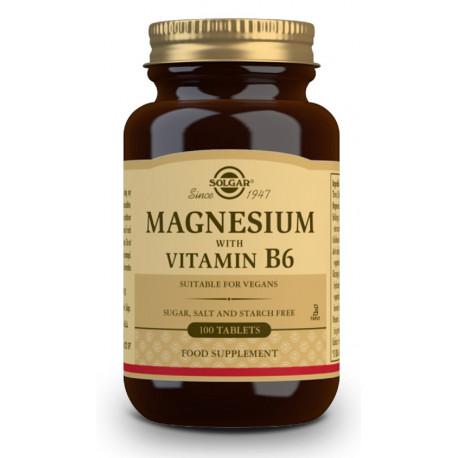 Magnesio con Vitamina B6 Solgar