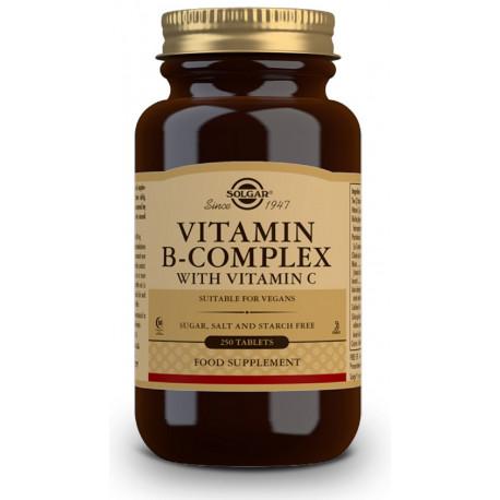 Vitamina B-Complex con Vitamina C 250 capsulas Solgar