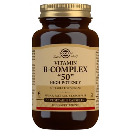 "Vitamina B-Complex ""50"" Alta potencia - 100 Cápsulas vegetales"