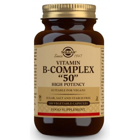 vitamina B Complex Alta potencia 100 cáp. Solgar