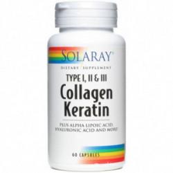 Collagen Queratina 60 capsulas Solaray