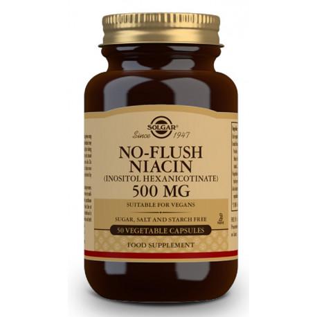 Niancina no ruborizante 500 mg 50 cap Solgar
