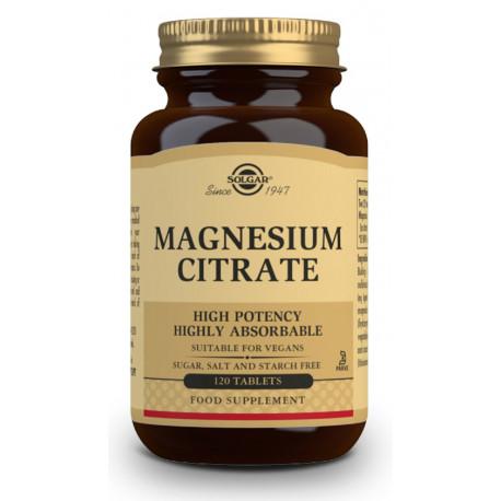 Citrato Magnesio 200Mg 120 comprimidos Solgar