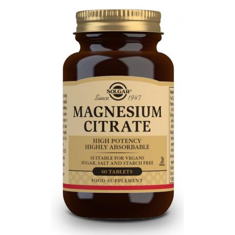 Citrato Magnesio 60 comprimidos Solgar