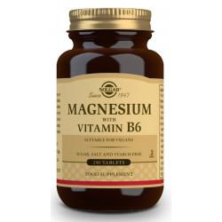 Magnesio con vitamina B6 250 comprimidos Solgar