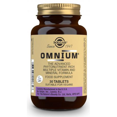 Omnium multivitamínico 30 comp Solgar