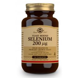 Selenio de Levadura 200 Mg 50 comprimidos Solgar
